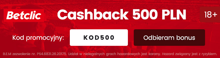 bukmacher betclic polska bonus